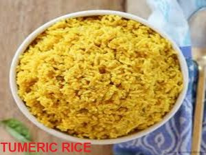 Easter Food: Tumeric rice