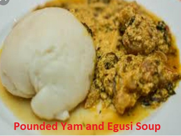 Pounded Yam with Egusi Soup
