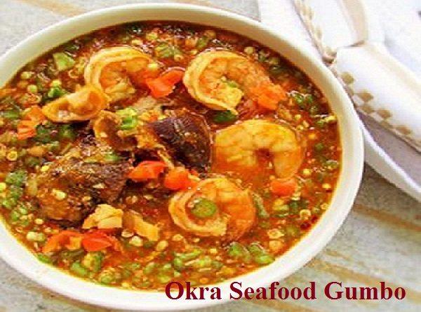 Seafood okra gumbo soup