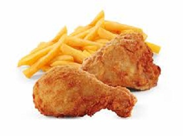 fried chicken and chips