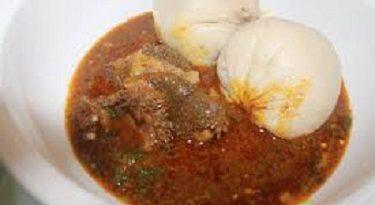 Banku dish and Ghanaian okra stew image
