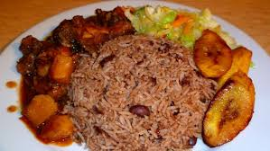 Delicious waakye with chicken stew