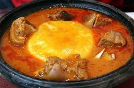 FUFU AND LIGHT GOAT MEAT