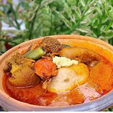 Kokonte and Palm Nut Soup