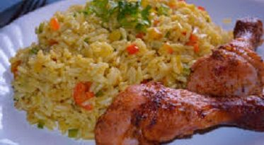 Nigerian chicken fried rice image