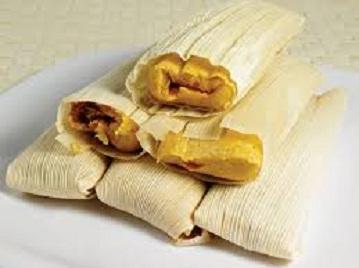 Tamal (Tamales) with pork Image