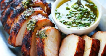 Grilled Pork Tenderloin with Chimichurri Sauce