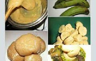 Unripe Plantain Fufu