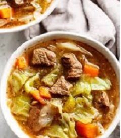 Cabbage vegetable beef soup Recipe