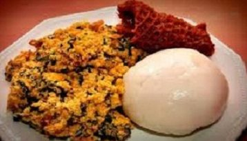 Egusi soup and pounded yam 1