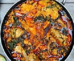 kontomire stew or palava sauce