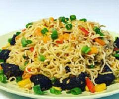 Nigerian Indomie Noodles Stir Fry