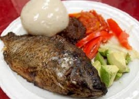 Banku with Fried Fish