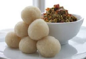 Eba Food with Egusi Soup