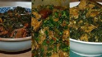 Orishirishi Green Vegetable Stew in Nigeria