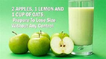 Apple Lemon Oats Smoothie for Weight Loss Benefits