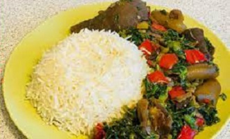 Vegetable Sauce for White Rice in Nigeria Image