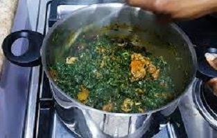 Vegetable soup in Nigeria Image